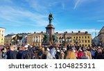 helsinki  finland   apr 30 2018 ... | Shutterstock . vector #1104825311