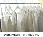 collection of white things in... | Shutterstock . vector #1104827447
