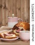 homebaked vanilla chocolate...   Shutterstock . vector #1104829571