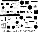 grunge design elements . brush... | Shutterstock .eps vector #1104829697