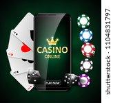 online internet casino...   Shutterstock .eps vector #1104831797