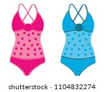 woman swimsuit isolated | Shutterstock .eps vector #1104832274