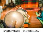 indian drum in sound therapy | Shutterstock . vector #1104833657