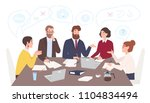 men and women dressed in... | Shutterstock .eps vector #1104834494
