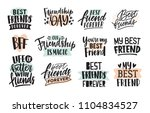 collection of creative thank... | Shutterstock .eps vector #1104834527