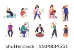 collection of people with... | Shutterstock .eps vector #1104834551