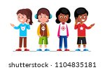 teenage girls   boys children... | Shutterstock .eps vector #1104835181