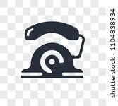 telephone vector icon isolated... | Shutterstock .eps vector #1104838934