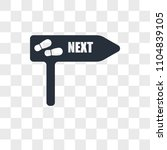 next steps vector icon isolated ... | Shutterstock .eps vector #1104839105