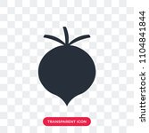 radish vector icon isolated on... | Shutterstock .eps vector #1104841844
