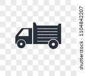 lorry vector icon isolated on... | Shutterstock .eps vector #1104842207