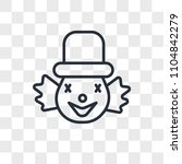 clown vector icon isolated on... | Shutterstock .eps vector #1104842279
