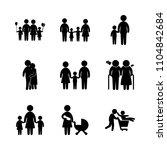 9 family icons vector set.... | Shutterstock .eps vector #1104842684