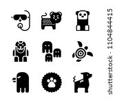 9 animals icons vector set.... | Shutterstock .eps vector #1104844415