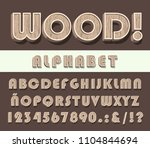 high quality vintage wooden... | Shutterstock .eps vector #1104844694