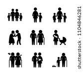 9 family icons vector set.... | Shutterstock .eps vector #1104846281