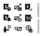 9 banking icons vector set.... | Shutterstock .eps vector #1104846341