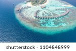 amazing aerial view of maldives ... | Shutterstock . vector #1104848999
