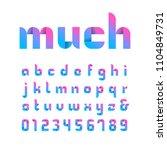 ribbon font. vector alphabet... | Shutterstock .eps vector #1104849731