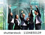a group of business people from ... | Shutterstock . vector #1104850139