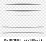 page dividers with transparent... | Shutterstock .eps vector #1104851771