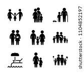 9 family icons vector set. city ...   Shutterstock .eps vector #1104852197