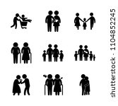 9 family icons vector set.... | Shutterstock .eps vector #1104852245