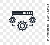 data settings vector icon... | Shutterstock .eps vector #1104852485