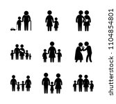 9 family icons vector set....   Shutterstock .eps vector #1104854801