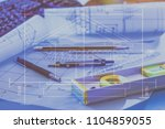 architectural design and... | Shutterstock . vector #1104859055