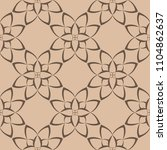 brown floral design on beige... | Shutterstock .eps vector #1104862637