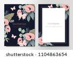 botanical wedding invitation... | Shutterstock .eps vector #1104863654