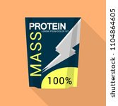 mass protein icon. flat... | Shutterstock .eps vector #1104864605