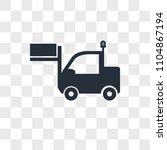 lorry vector icon isolated on... | Shutterstock .eps vector #1104867194