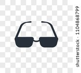 sunglasses vector icon isolated ... | Shutterstock .eps vector #1104868799