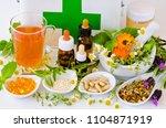 alternative medicine. herbal... | Shutterstock . vector #1104871919