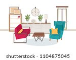 interior of living room full of ... | Shutterstock .eps vector #1104875045