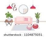 interior of living room full of ... | Shutterstock .eps vector #1104875051