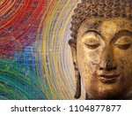 face of buddha abstract... | Shutterstock . vector #1104877877