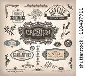 vector set of calligraphic... | Shutterstock .eps vector #110487911