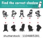 cute little zebra find the... | Shutterstock .eps vector #1104885281