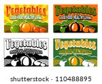 vintage vegetable labels | Shutterstock .eps vector #110488895