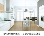 3d illustration of white modern ... | Shutterstock . vector #1104892151
