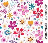 amazing floral vector seamless...   Shutterstock .eps vector #1104892934