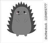 hedgehog urchin. cute cartoon... | Shutterstock .eps vector #1104893777