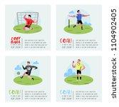 soccer cartoon players poster... | Shutterstock .eps vector #1104902405