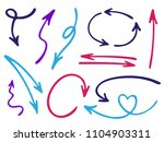 hand drawn diagram arrow icons... | Shutterstock .eps vector #1104903311
