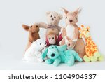 cute teddy bear and the gang ... | Shutterstock . vector #1104904337