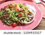 plate with delicious lentils... | Shutterstock . vector #1104915317