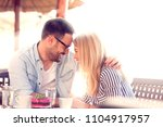 happy love couple enjoying in... | Shutterstock . vector #1104917957